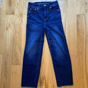 American Eagle straight cropped jeans